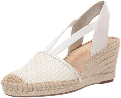11446086be2 Anne Klein Women's Aneesa Espadrille Wedge Sandal, White, 11 M US ...