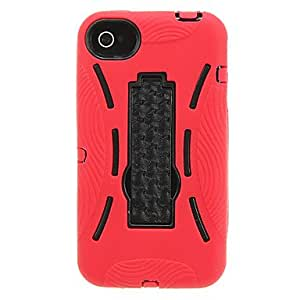 ZMY Funda protectora Robot Design PC para el iPhone 4/4S (colores surtidos) . Rose