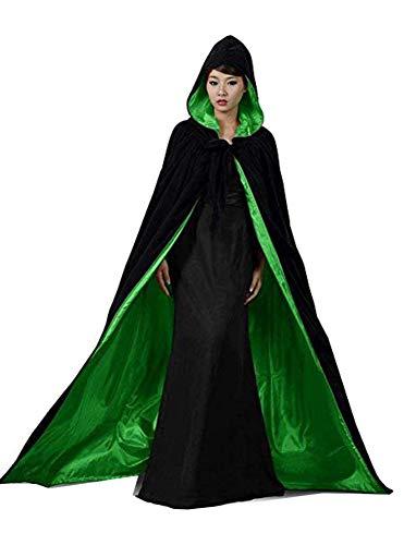 (Special Bridal Adult Vampire Costumes Velvet Witch Cloak Black Velvet Cape Adult Cloaks for Adults M)