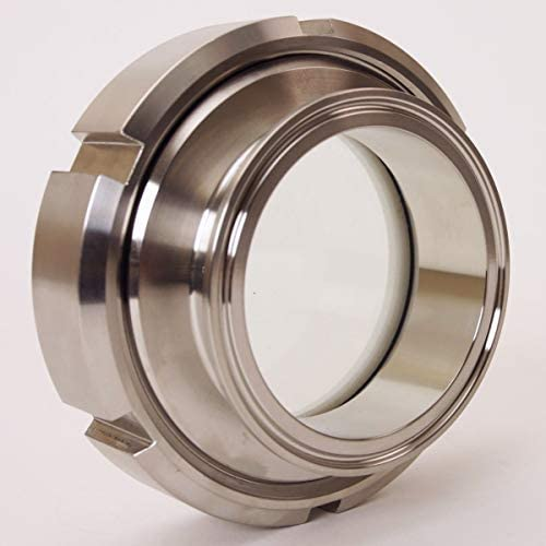 Glacier Tanks Stainless Steel SS304 // FKM//PTFE Process View Tri Clamp 3 inch