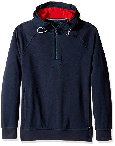 Nautica Men's Long Sleeve Zip Pullover Hoodie Sweatshirt,...