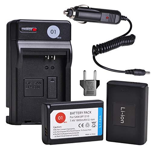 BP1310 DOT-01 Battery Charger Set Compatible with Samsung ED-BP1310 BP-1310 and Samsung NX5, NX10, NX11, NX20, NX100 Digital Cameras(2-Pack, 1800mAh, 7.4V) -  NKEL15B3B3