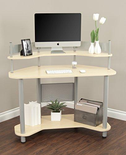 Corner Kitchen Desk Designs: Calico Designs 55124 Study Corner Desk, Silver With Maple