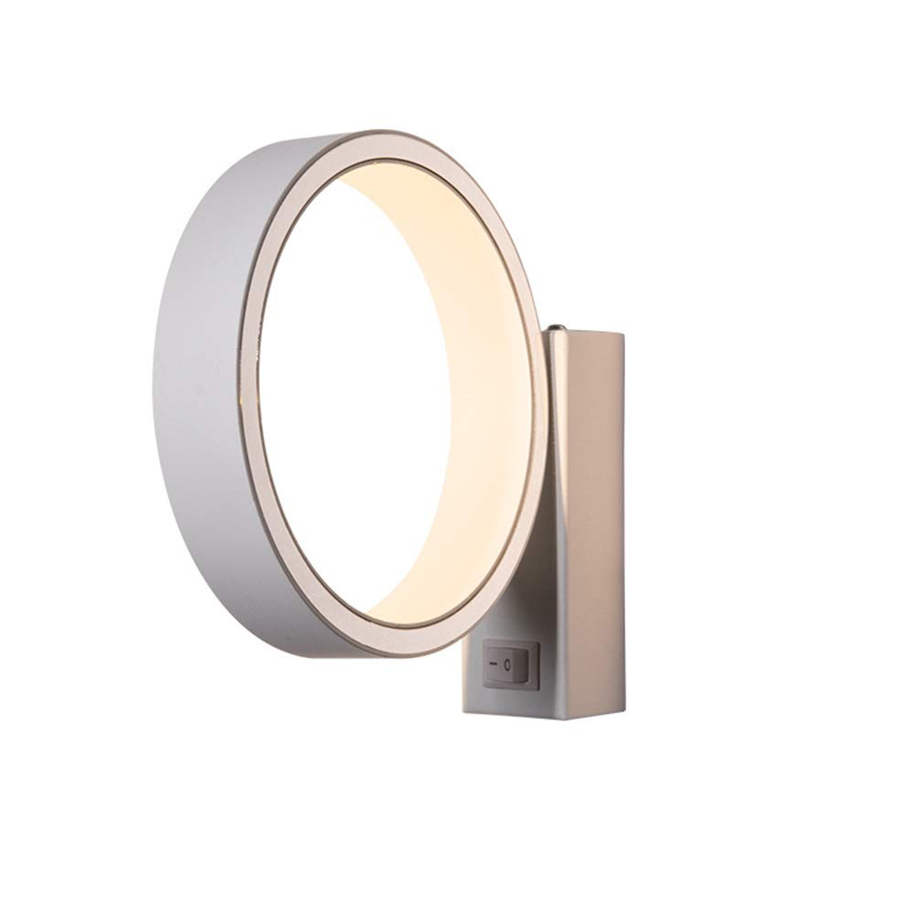 Wandlampe,Moderne, minimalistische LED-Wandleuchte, Nordic drehbare Wandleuchte - Weiß
