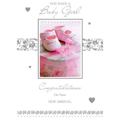 Birth Of A Baby Girl Daughter Congratulations Card