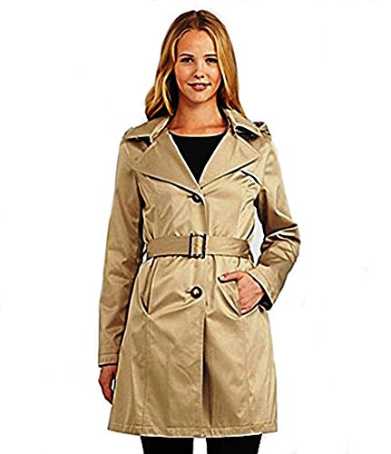 Michael Kors M72356M Missy Hooded Trench Camel Size XS (Michael Kors Trench Coat)
