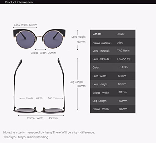 Round Women de For Eye EYESHINE New Exaggeration Rosa Mirror Arrival Cat Lens AO1882 Red Glasses Purple Brand Sunglasses Designer Women Lente Color Sunglass Fygrend 85X1qw8