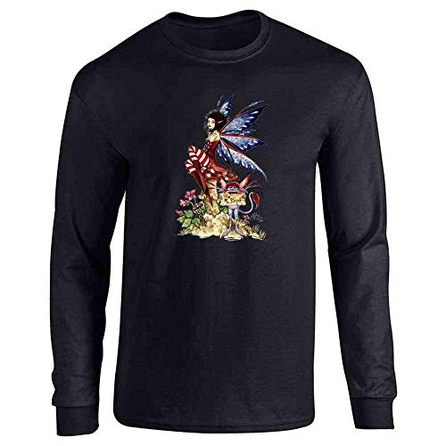 The Brat by Amy Brown Art Black L Long Sleeve T-Shirt