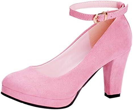 0179961741ebb LuckyGirls Zapatos de Tacón de Mujer Ante Slip On Moda Casuales Zapatos de  Fiesta Zapatillas Sandalias. Cargando imágenes.