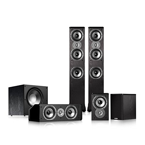 Polk Audio TSi400 5.1 Home Theater Speaker Package (Black) by Polk Audio