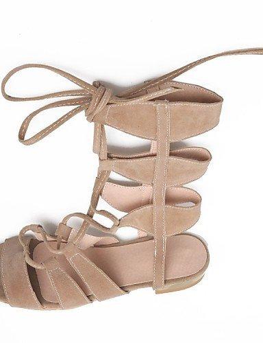 ShangYi Women's Shoes Fleece Low Heel Fashion Boots / Open Toe Sandals Dress / Casual Black / Yellow / Beige