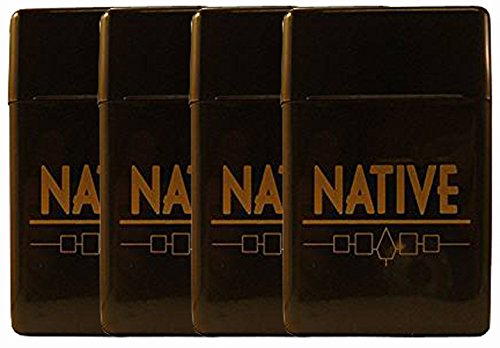 4 Pack Native Flip Top Hinged Lid Sectioned Cigarette Case for King Size 1551