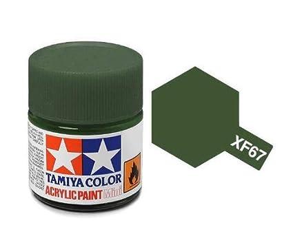 Tamiya 81767 - Pintura Acrylic Mini XF-67 NATO,Verde, 10ml ...