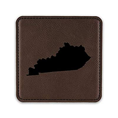 Kentucky Shaped Drink Coaster Leatherette Coasters KY