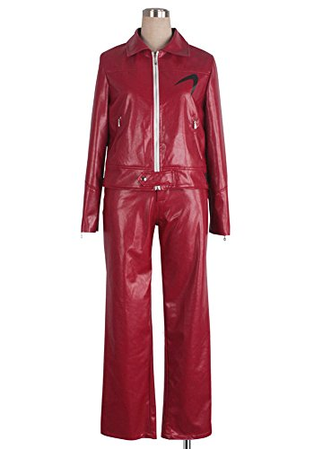 [COSPLAYONSEN Kamen Rider Ryu Terui Cosplay Costume Red Color (Women XL)] (Ryu Costume)