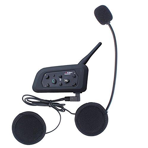 5 opinioni per 1200m Bluetooth Intercom Moto Interphone del Casco Auricolare Bluetooth 6 Rides