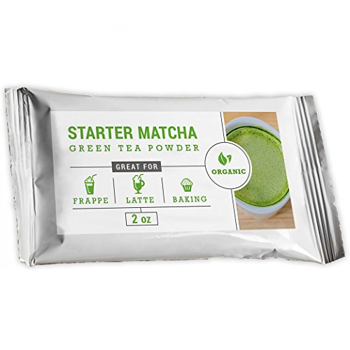 Starter Matcha Green Tea Powder, Certified Organic, Premium Culinary Grade
