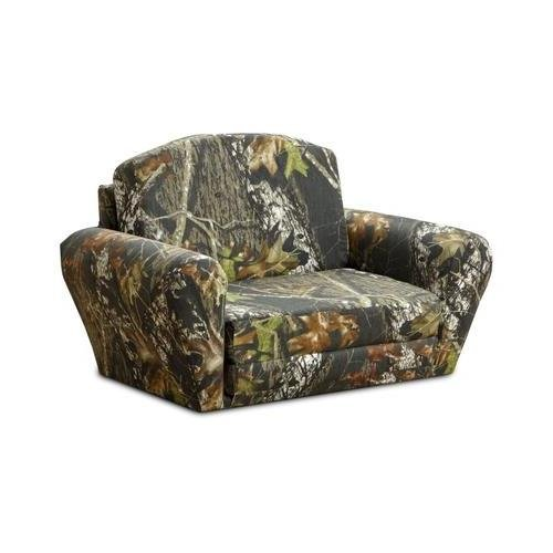 Kidz World Kidz World Mossy Oak Camouflage Sleepover Sofa, Fabric