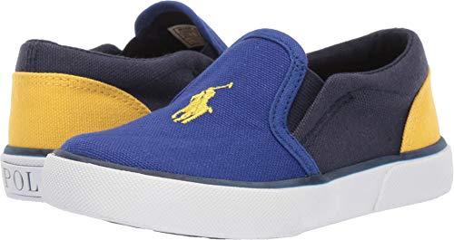 Polo Ralph Lauren Kids Unisex Bal Harbour II (Toddler) Royal/Navy/Yellow Canvas/Yellow Pony 7.5 M US Toddler (Ralph Lauren Toddler Shoes)