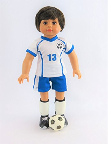Madame Doll American Girl Alexander - Mason The Super Soccer Player 4-Piece Outfit with Boy Doll   Fits 18