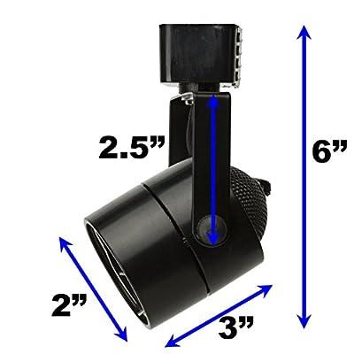 D&D Brand H System GU10 Line Voltage Track Lighting Fixture Black with 7.5W 3K Warm White LED Bulb HTC-9154-W3K-BK