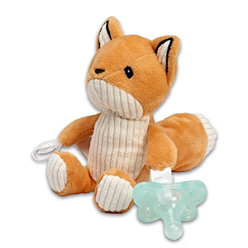 Dr. Browns Lovey Pacifier and Teether Holder, 0 Months+, Fox with Teal