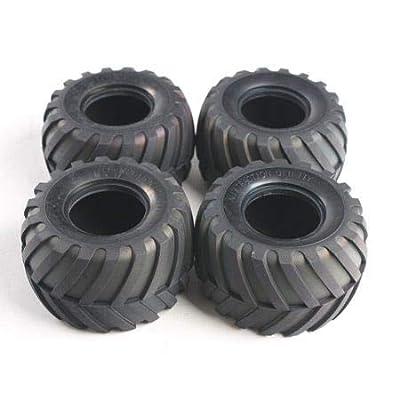 Tamiya America, Inc 1/12 Front/Rear Tires (4): Lunchbox, Pumpkin, TAM9805213: Toys & Games