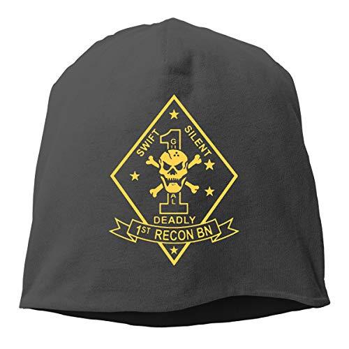 1st Recon Battalion Unisex Winter Warm Hats Men Women Hat Skull Cap -