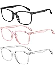 Blue Light Blocking Glasses, Computer Gaming Glasses for Women Men, Anti Glare Glasses Non Prescription