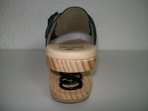 LUVER Sabot en bois anatomique avec ressort 120/A couleur noir taille 42