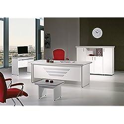 "Modern New Star 5 Piece Desk Office Suite Furniture Set 63"" White"