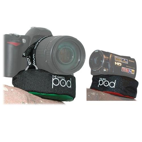 The POD Green Camera Platform for DSLRs with Zoom Lenses Red Bean Bag Camera Support