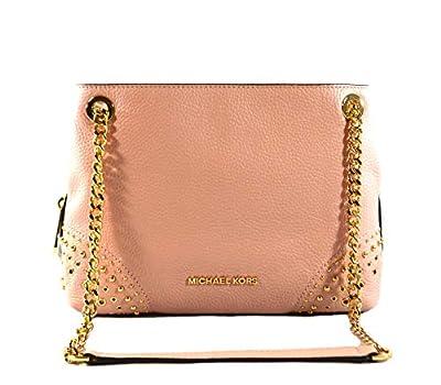 Michael Kors Jet Set Item Women's Medium Chain Messenger Leather Shoulder Bag Purse Handbag