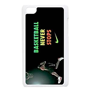 Unique Design Cases Ipod Touch 4 Cell Phone Case Basketball Never Stops Ttgtf Printed Cover Protector