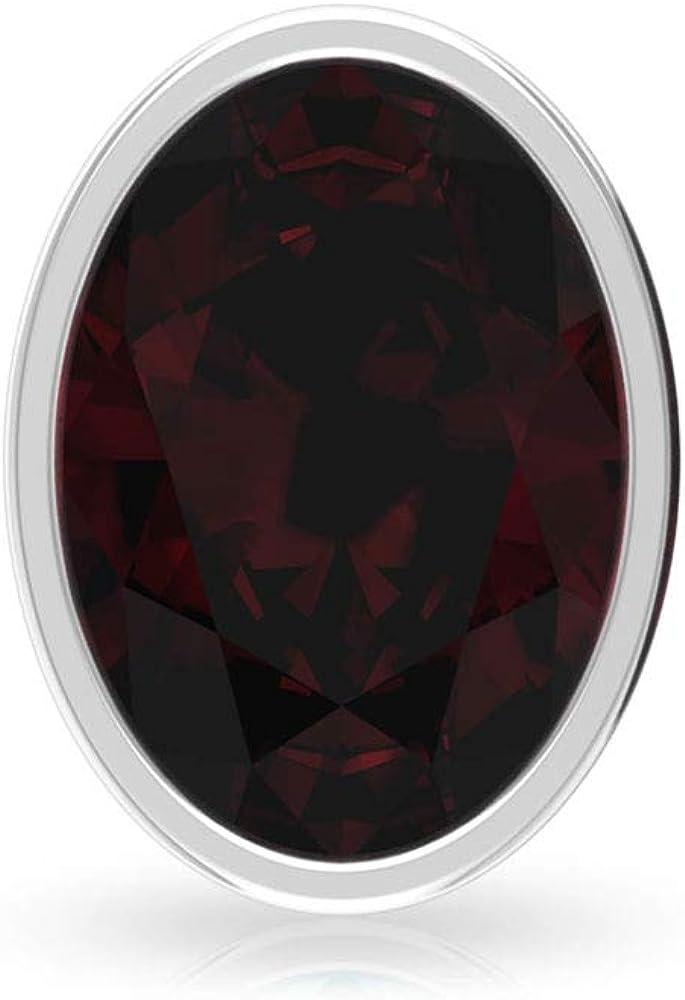 2.12 ct Solitario Granate Pendiente, con certificado SGL, forma ovalada, con forma de piedra preciosa, para dama de honor, para boda, vintage, para madres, tornillo hacia atrás