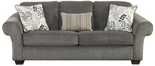 Ashley Furniture Signature Design - Makonnen Sleeper Sofa - Classic Style -  Queen Size - Charcoal Gray