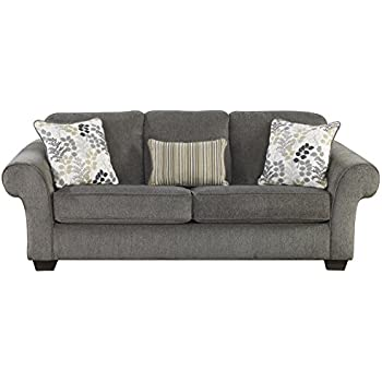 Ashley Furniture Signature Design - Makonnen Sleeper Sofa - Classic Style - Queen Size - Charcoal Gray
