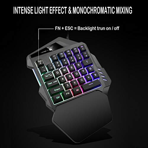 Gaming-Keyboard-One-Handed-Gamer-keypad-Wide-Hand-Rest-with-35-Keys-Small-Single-Hand-Mechanical-Keyboard-Colorful-Backlight-for-Game-LOLPUBGFortniteWowDotaOW