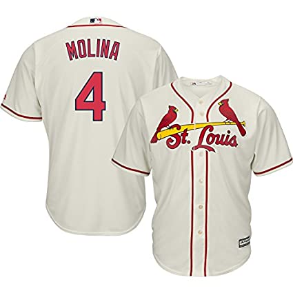 Image Unavailable. Image not available for. Color  Yadier Molina St. Louis  Cardinals Cream MLB Cool Base Replica Alternate Jersey ... d4cfcc2fc