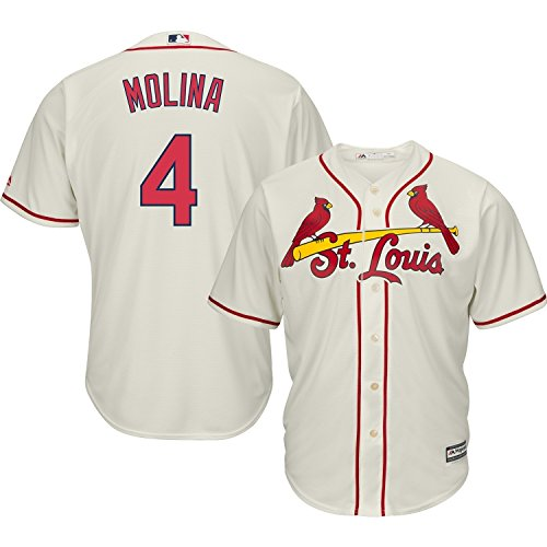 online retailer 843fe ebdfb Yadier Molina St. Louis Cardinals Cream MLB Cool Base Replica Alternate  Jersey (Large 14-16)