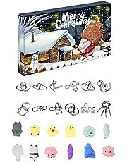 HHHJ Adventskalender 2021 jul nedräkningskalender leksaksset jul nedräkningskalender pussel leksak jul adventskalender 24 dagar jul adventspresent för barn pojkar och flickor