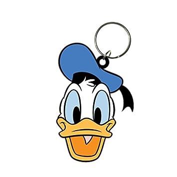 Amazon.com: Disney Mickey Mouse pato Donald de goma llavero ...