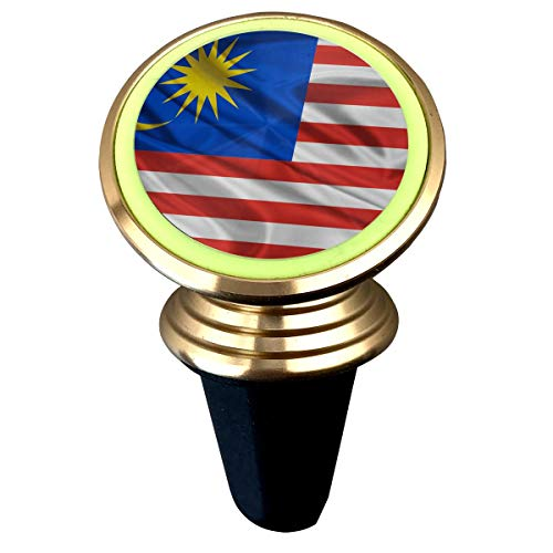 X-JUSEN Malaysia Flag Universal Twist-Lock Air Vent Magnetic Car Mount Holder, Luminous Deluxe Car Mobile Bracket, Universal Car Mount Holder Compatible with All Smartphones by Stick It 360 (Best Car Lock Malaysia)