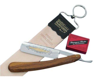 Rasiermesser-Set mit Streichriemen und Schärf-Pasten aus Solingen
