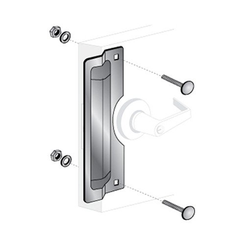 Stainless Steel Finish Pro-Lok 11 Center Rose Latch Protector