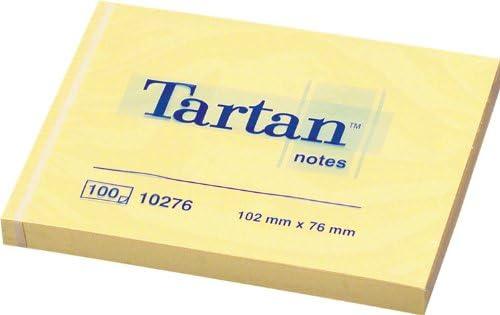 Tartan 007676 Haftnotiz Notes (76 x 76 mm) 12 Blöcke a 100 Blatt gelb