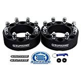 """Supreme Suspensions - 2pc 1.5"""" Wheel Spacers for 1973-1996 Ford F250 2WD 4WD 8x6.5"""" (8x165.1mm) BP with 9/16""""x18 Studs 130mm Center Bore [Black]"""