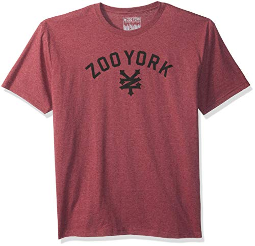 - Zoo York Men's Short Sleeve Logo Tee, Merlot Heather, Medium
