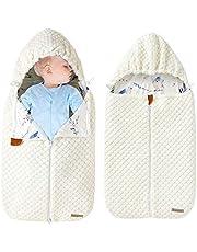 mimixiong Baby Swaddle Filt wrap, mjuk sovsäck för nyfödda för 0-12 månader (vit)
