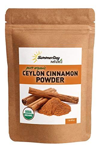 Organic Ceylon Cinnamon Powder - 1 lb - Premium Quality True Ceylon Cinnamon From Sri Lanka - Unsweetened, Gluten-free, No Additives